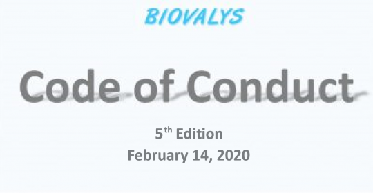 Biovalys Code of Conduct 5th Edition