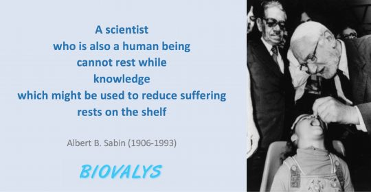 Albert B. Sabin and Oral Polio Vaccine