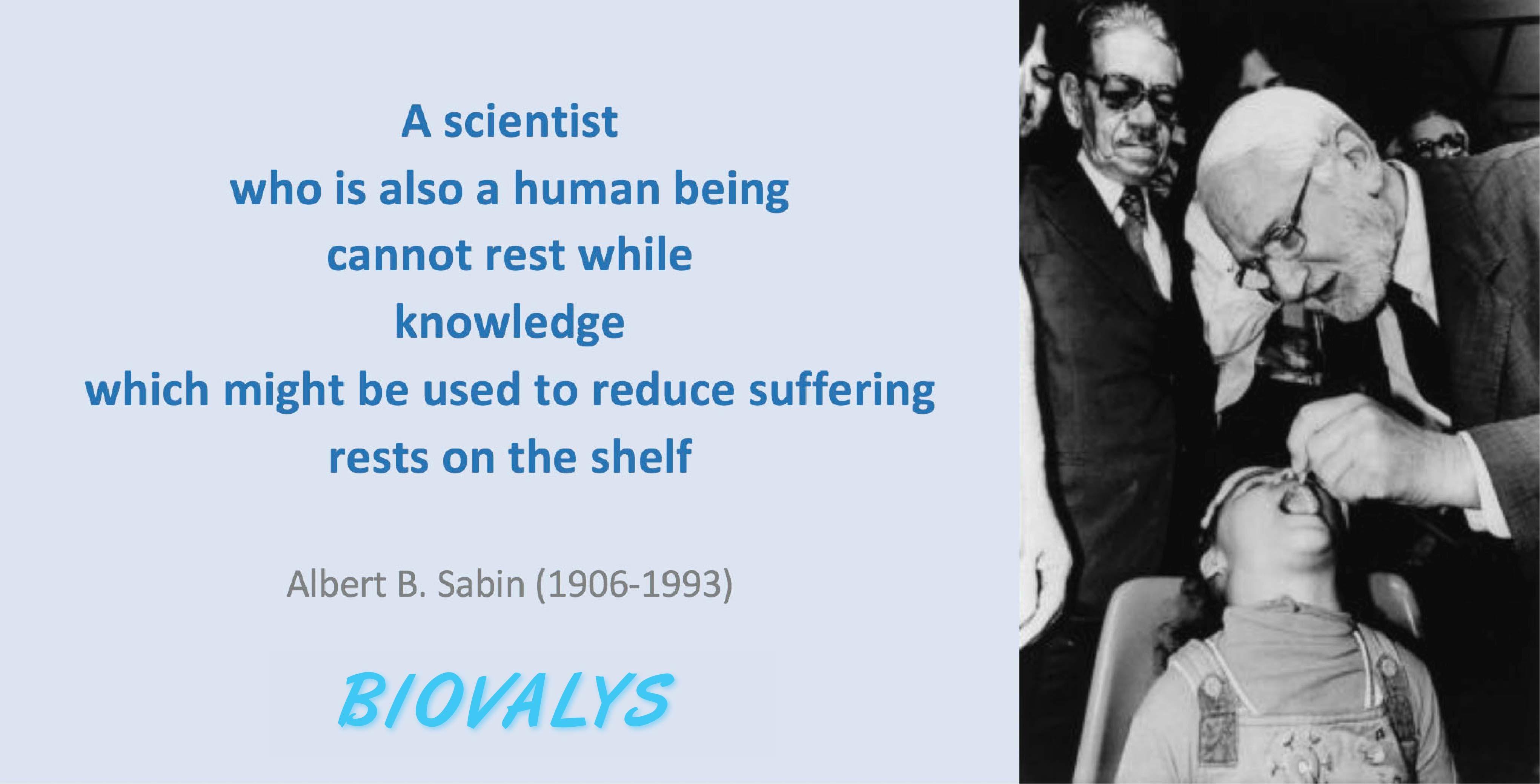 Albert B. Sabin and Oral Polio Vaccine